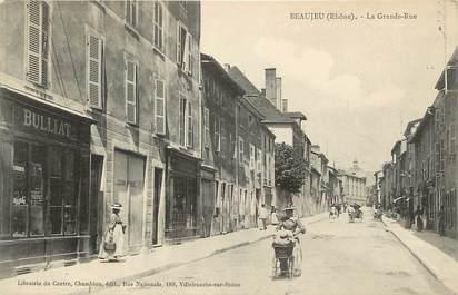 """.CPA  FRANCE 69 """"  Beaujeu, Grande  rue""""/ REFERENDUM POUR LA PEINE DE MORT (voir verso)"""