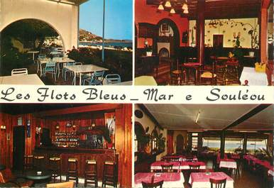 """CPSM FRANCE 83 """" Le  Lavandou, hotel restaurant Mme Bonaudo"""""""
