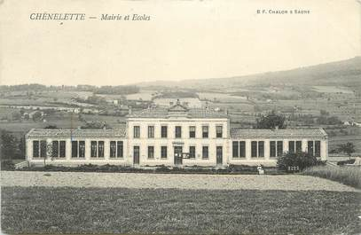 """.CPA FRANCE 69 """" Chéneleette, Mairie et écoles"""""""