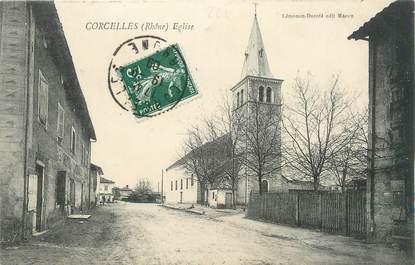 ".CPA  FRANCE 69 "" Corcelles, Eglise"""