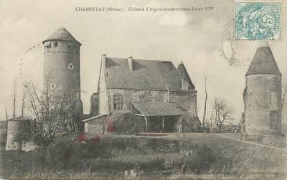 ".CPA  FRANCE 69 "" Charentay, Château d'Argini"""