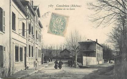 """.CPA  FRANCE 69 """" Condrieu, Avenue de la gare"""""""