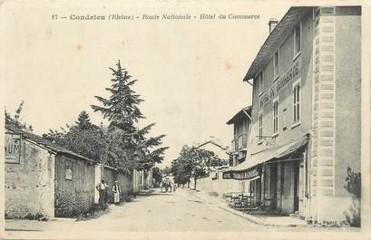 """.CPA  FRANCE 69 """" Condrieu, Route nationale, Hôtel du commerce"""""""