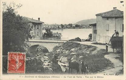 ".CPA  FRANCE 69 "" Condrieu, Le Pont de Verin"" / CHEVRE"