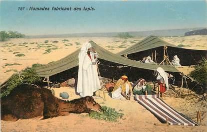 "CPA TUNISIE ""Nomades fabricant des tapis"" / LEHNERT & LANDROCK"