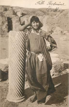 "CPA TUNISIE ""Fille bédouine à Carthage"" / LEHNERT & LANDROCK"