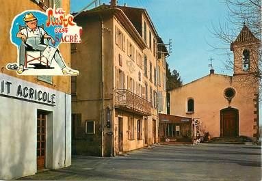 """CPSM FRANCE  83  """" La Motte, la place Clémenceau"""""""