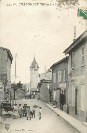 """.CPA  FRANCE 69 """" Chaponost, La rue de l'église"""""""