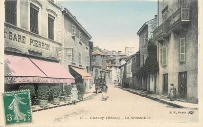 """.CPA  FRANCE 69 """" Chessy, La grande rue"""""""