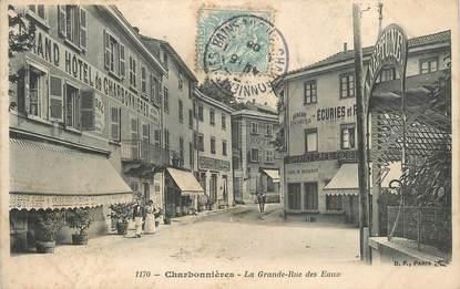 """.CPA FRANCE 69 """"Charbonnières les Bains, La grande rue des eaux"""""""