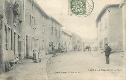 ".CPA FRANCE 69 ""Duerne, La rue"""