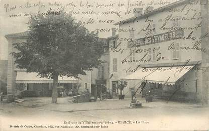 """.CPA FRANCE 69 """"Denicé, La place"""""""