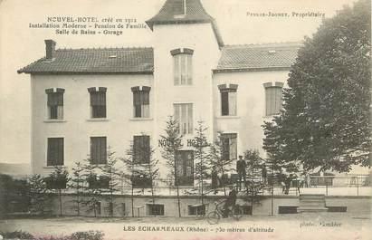 """.CPA  FRANCE 69 """" Les Echarmeaux, Nouvel Hôtel"""""""