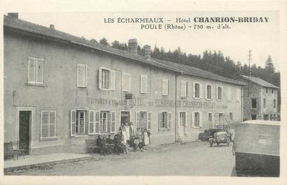 ".CPA  FRANCE 69 "" Les Echarmeaux,Hôtel Chanrion Briday"""