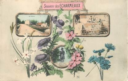 """.CPA  FRANCE 69 """" Les  Echarmeaux, Souvenir des Echarmeaux"""""""