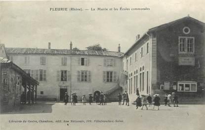 """.CPA  FRANCE 69 """" Fleurie, Mairie et écoles communales"""""""