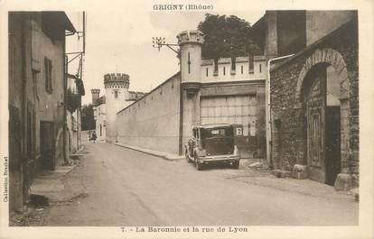 """.CPA  FRANCE 69 """" Grigny, La Baronnie et la rue de Lyon"""""""