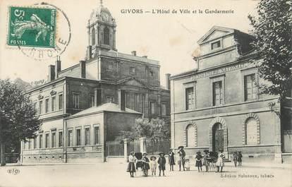 """.CPA FRANCE 69 """" Givors, Hôtel de ville et la Gendarmerie"""""""