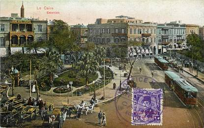 "CPA EGYPTE ""Le Caire"" / TRAMWAY"