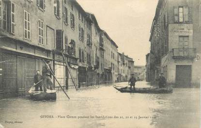 """.CPA FRANCE 69 """" Givors, Place Carnot"""" / INONDATIONS"""