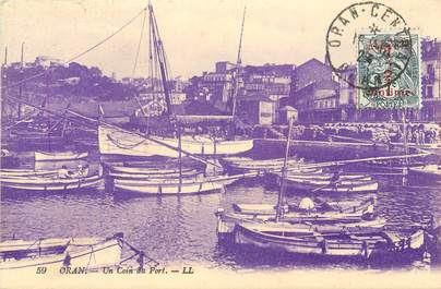 "CPA ALGERIE ""Oran, un coin du Port"""
