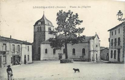""".CPA FRANCE 69 """"Longessaigne, Place dde l'église"""""""