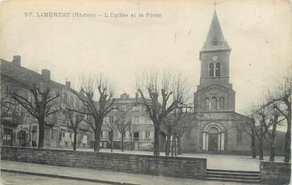 """.CPA  FRANCE 69 """" Limonest, L'église et la place"""""""