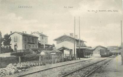 """.CPA  FRANCE 69 """" Lentilly, La gare """""""