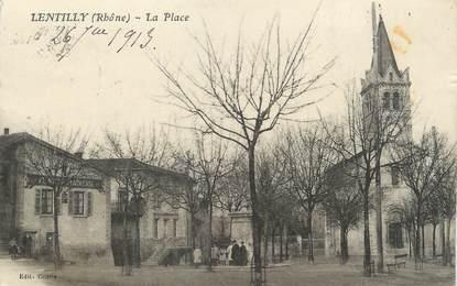 """.CPA  FRANCE 69 """" Lentilly, La place"""""""