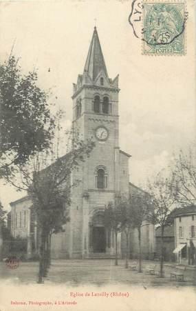 ".CPA  FRANCE 69 "" Lentilly, L'église"""