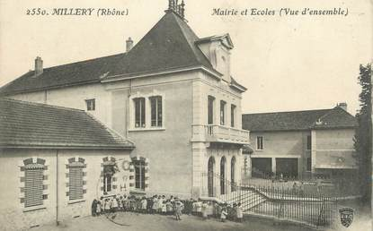 ".CPA FRANCE 69 "" Millery, Mairie et école"""