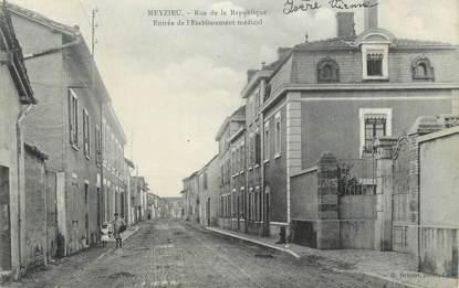 """.CPA FRANCE 69 """" Meyzieu, Rue de la république, entrée de l'établissement médical"""""""