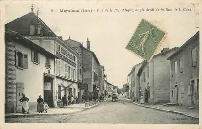 """.CPA FRANCE 69 """" Meyzieu, Rue de la République"""""""