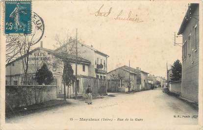 """.CPA FRANCE 69 """" Meyzieu, Rue de la Gare"""""""