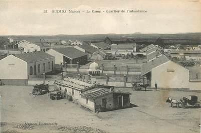 "CPA MAROC ""Oudjda, le camp, quartier de l'Intendance"""