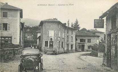 """.CPA FRANCE 69 """" Monsols, Quartier du Nord"""""""