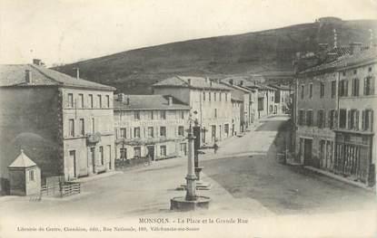 """.CPA FRANCE 69 """" Monsols, La place et la grande rue"""""""