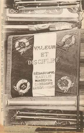 """CPA ALGERIE """"Sidi Bel Abbès, le drapeau 1er régiment de la Légion étrangère"""""""