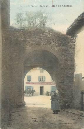 """.CPA FRANCE 69 """" Oingt, Place et ruine du château"""""""