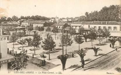 """CPA ALGERIE """"Sidi Bel Abbès, la place Carnot"""""""