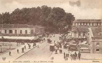 "CPA ALGERIE ""Sidi Bel Abbès, la rue de Mascara"""
