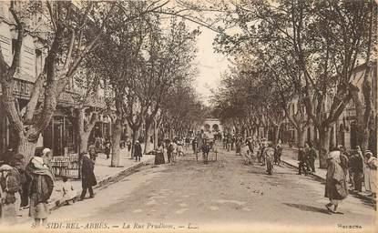 """CPA ALGERIE """"Sidi Bel Abbès, la rue Prudhom"""""""