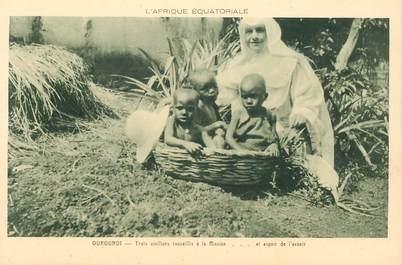 """CPA OUROUNDI """"Enfants recueillis à la Mission"""""""