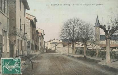 """.CPA FRANCE 69 """" Les Olmes, Entrée du village"""""""