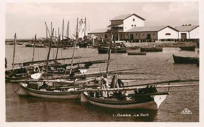 "CPSM TUNISIE  ""Gabès, le port """