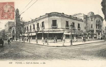 """CPA TUNISIE  """"Tunis, Café du Casino"""""""