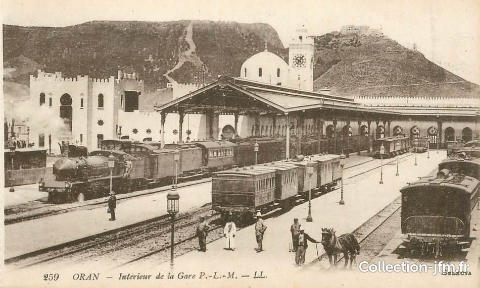 Cpa algerie oran int rieur de la gare train algerie for Interieur algerie