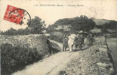 """.CPA FRANCE 69 """" Poleymieux, Le vieux moulin"""""""