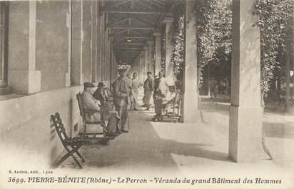 """.CPA FRANCE 69 """"Pierre Bénite, Le Perron véranda du grand bâtiment des hommes"""""""