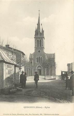 """.CPA  FRANCE 69 """"Quincieux, Eglise"""""""